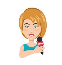 News presenter avatar character vector
