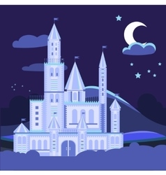 Night landscape with castle vector