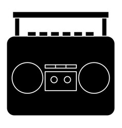 old music player icon vector image