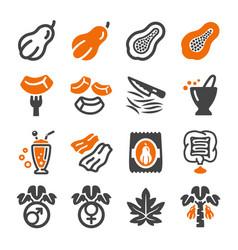 papaya icon vector image