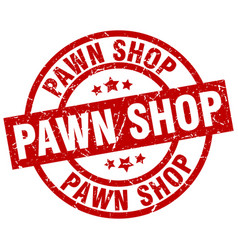 Pawn shop round red grunge stamp vector