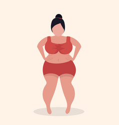 plus size women sexy vector image