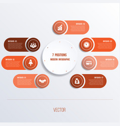 Process chart template for presentation 7 option vector