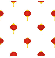 Red chinese lantern pattern seamless vector