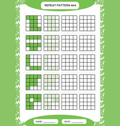 Repeat green pattern cube grid with squares vector