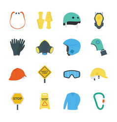 Safety work icons vector