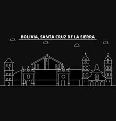 Santa cruz de la sierra silhouette skyline vector