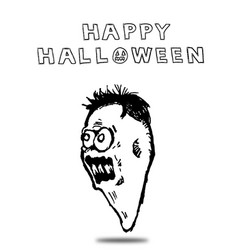 Scary halloween ghost face vector