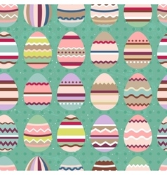 Seamless easter pattern with painted eggs Endless vector