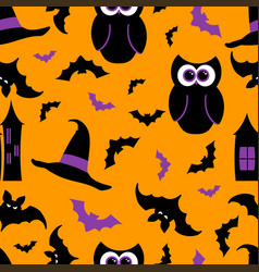 seamless pattern halloween background vector image