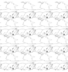 Seamless pattern of cats vector image
