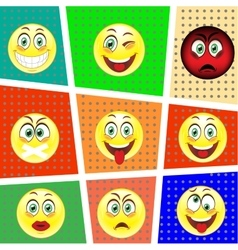 Set big emotions vector image