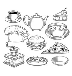 set on theme fast vector image