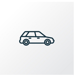 Station wagon outline symbol premium quality vector