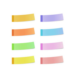 sticky reminder notes realistic colored papers vector image