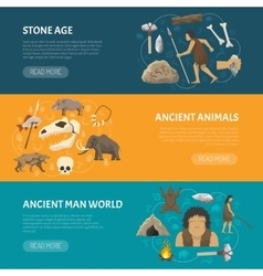Stone Age Banners vector image