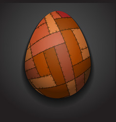 Stylish creative patchwork easter egg Logo mock up vector