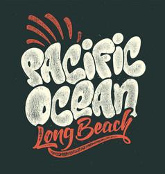 Summer tropical surf print pacific ocean vector