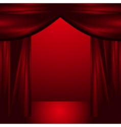 Theatre curtains vector