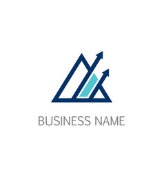 triangle arrow up business logo vector image