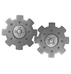 Two cogwheels vector