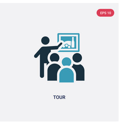 Two color tour icon from museum concept isolated vector