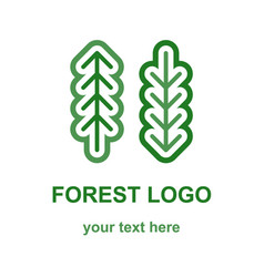 two coniferous forest trees logo vector image
