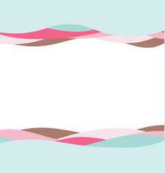 wave colorful abstract background vector image