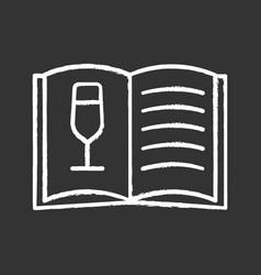 wine menu chalk icon vector image