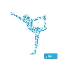 yoga concept vector image