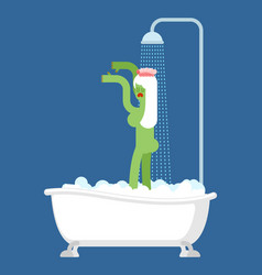 zombie girl in bath washes of halloween vector image