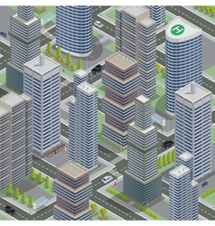 Isometric architecture business city cityscape vector