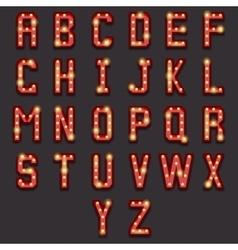 Retro lightbulb alphabet vector image vector image