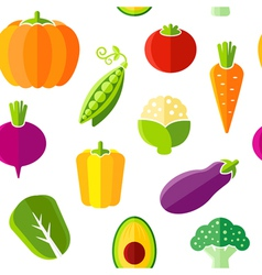 Seamless pattern with fresh organic vegetables vector image vector image