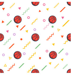 silhouette of basketball ball geometric pattern vector image