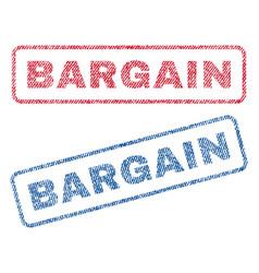 Bargain textile stamps vector