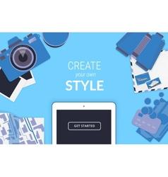 Creative background in orange style vector image vector image