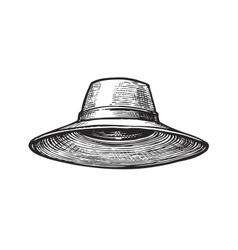 Hat of gardener Sketch vector image