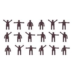 People minimalistic icons set Symbols of standing vector image