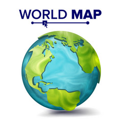 world map 3d planet sphere earth with vector image