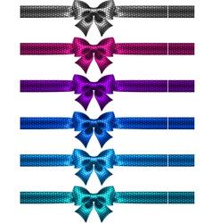 Festive polka dot bow knots with ribbons vector