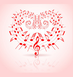 valentines day music vector image vector image