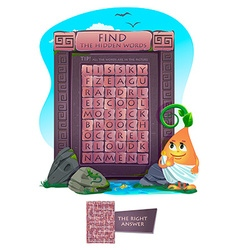 Zigzag word search puzzle vector image