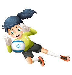 A female football player from Israel vector image vector image