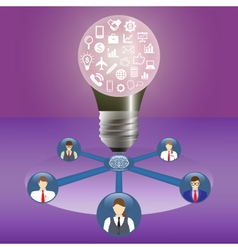 Business idea and teamwork concept Innovation and vector image vector image