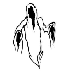 Danger ghost vector image