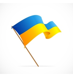 liiustration Ukraine Flag vector image vector image