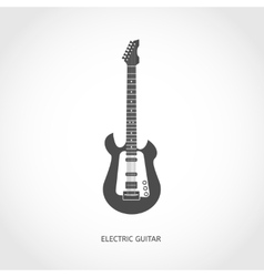 Musical instrument guitar flat icon vector image vector image
