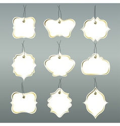 Paper tags collection isolated on grey background vector image vector image
