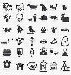 Pet icons set vector image